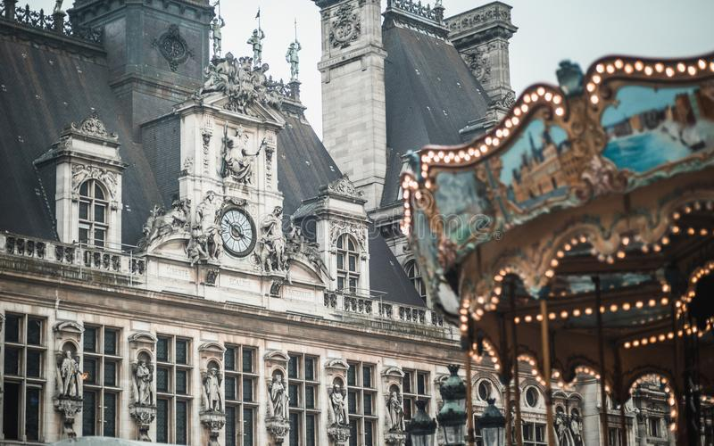 Hotel de Ville και ιπποδρόμιο στοκ εικόνες με δικαίωμα ελεύθερης χρήσης