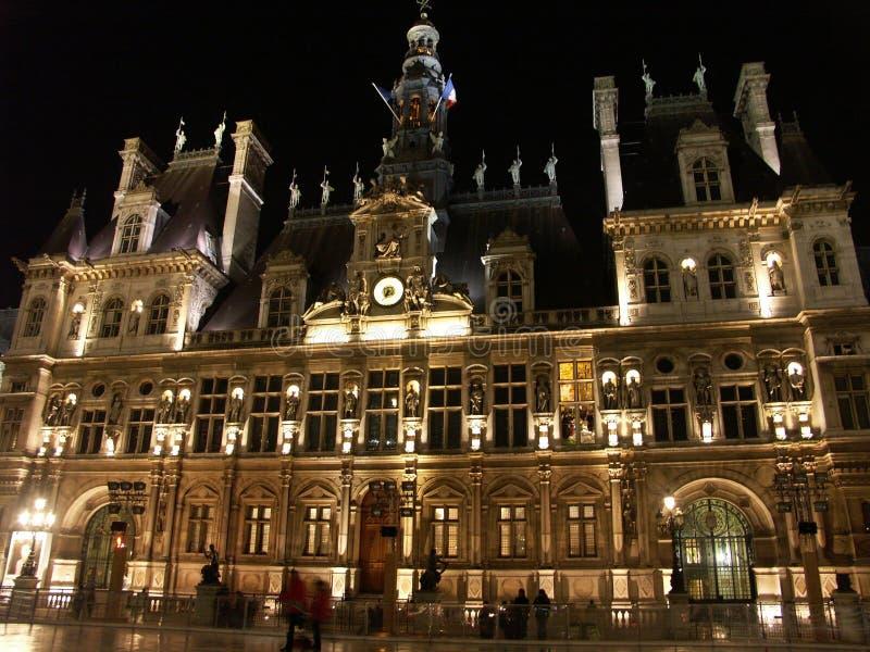Hotel DE Ville bij nacht royalty-vrije stock foto's
