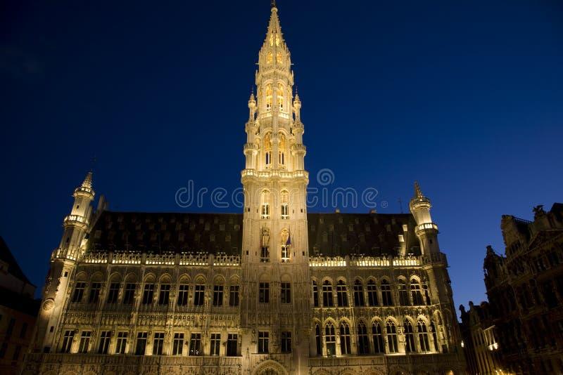 Hotel de Ville, Bruselas imagenes de archivo