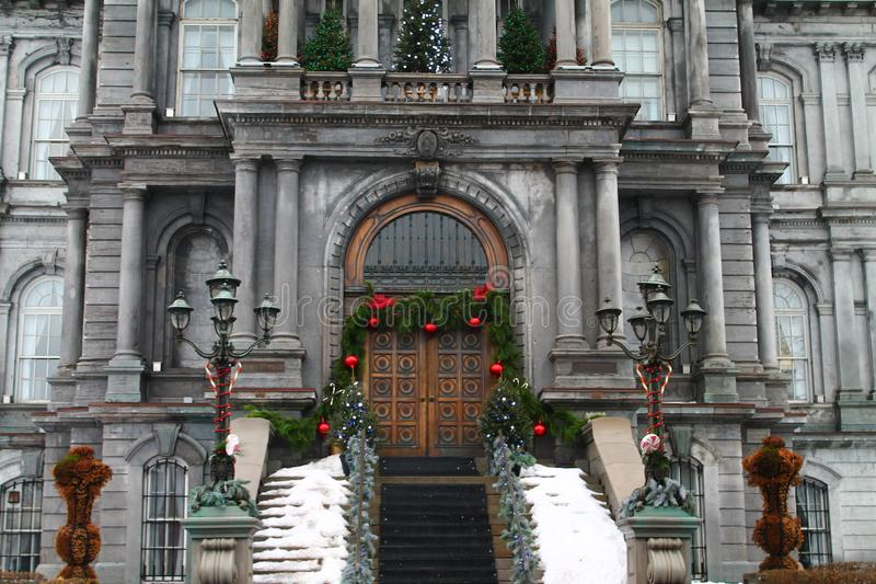 Hotel de ville - city hall Old Port Montreal Canada stock image