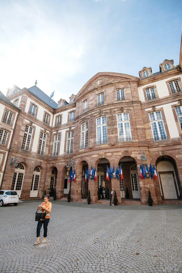 Hotel de Ville city hall of Strasbourg Election day stock photos
