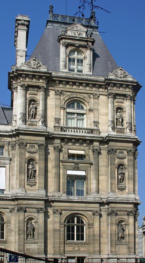 Hotel De Ville De Nuit In Paris Stock Image Image Of