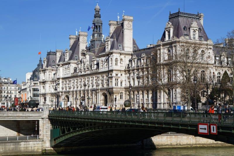 Hotel de ville de París foto de archivo