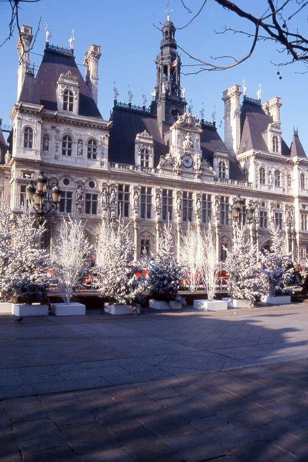 Hotel DE ville DE Parijs   stock foto
