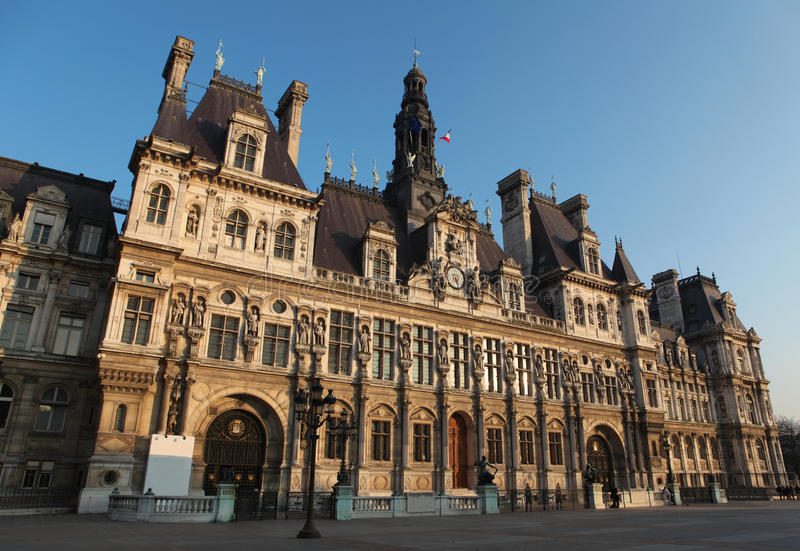 Hotel de Ville, París fotografía de archivo