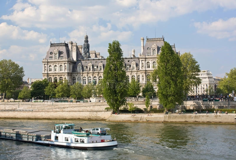 Hotel de Ville, París imagenes de archivo