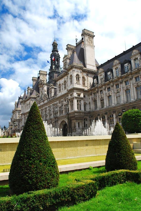 Hotel DE Ville in Parijs stock foto