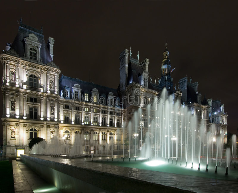Hotel de Ville Paris photo stock