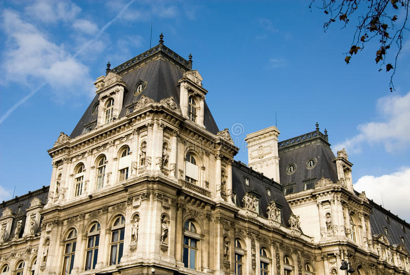 Hotel De Ville Paris Stock Photo Image Of European