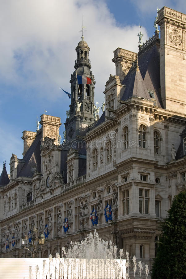 Hotel de Ville, Paris, France royalty free stock images