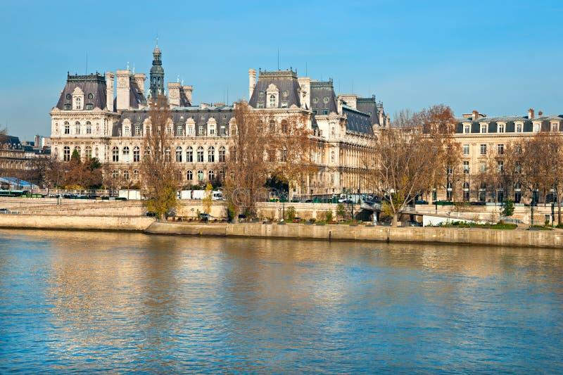 Hotel de Ville, Paris, Frankreich. lizenzfreies stockbild