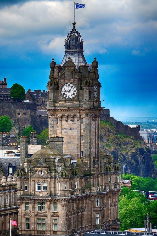 Hotel del Balmoral, Edimburgo, Escocia foto de archivo libre de regalías