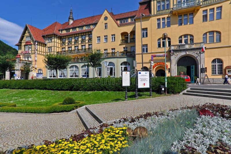 Hotel del balneario en Polonia imagen de archivo
