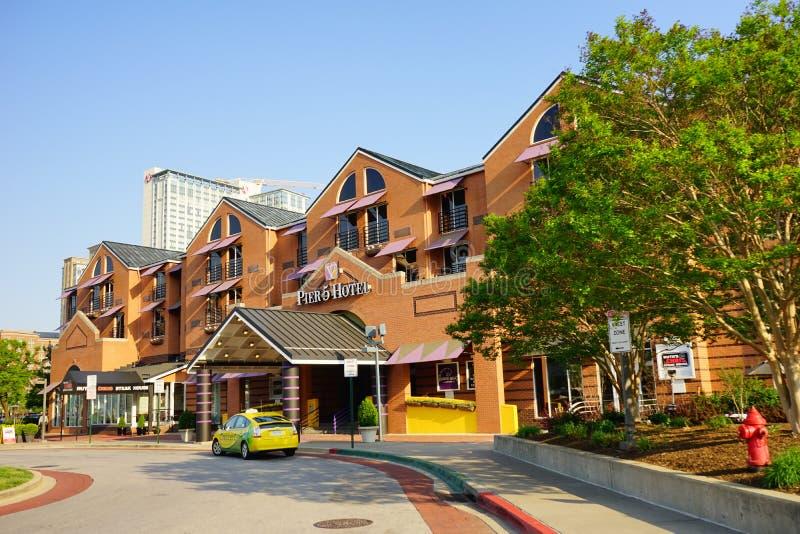 Hotel del centro di Baltimora fotografia stock libera da diritti