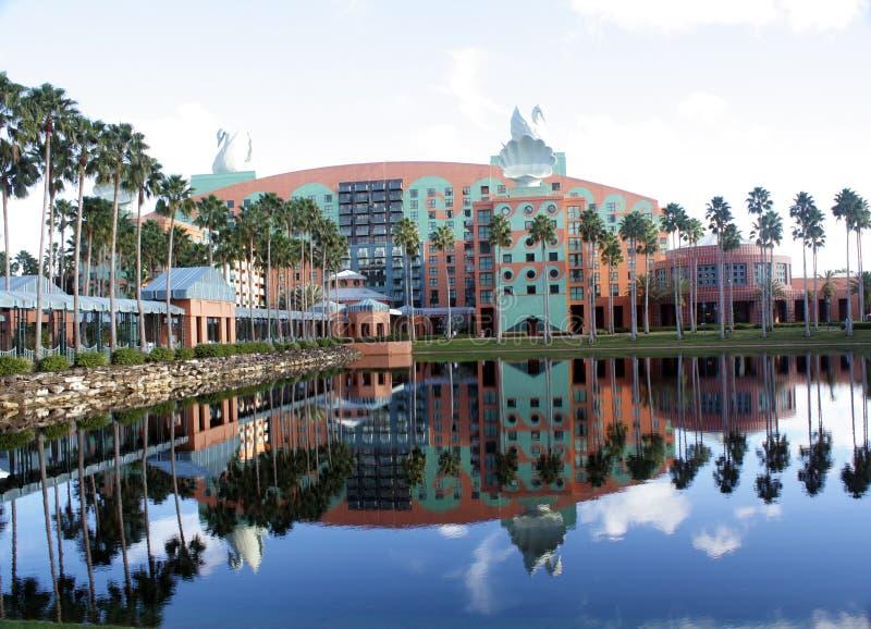 Hotel del cisne en el mundo de Walt Disney (1) fotos de archivo libres de regalías