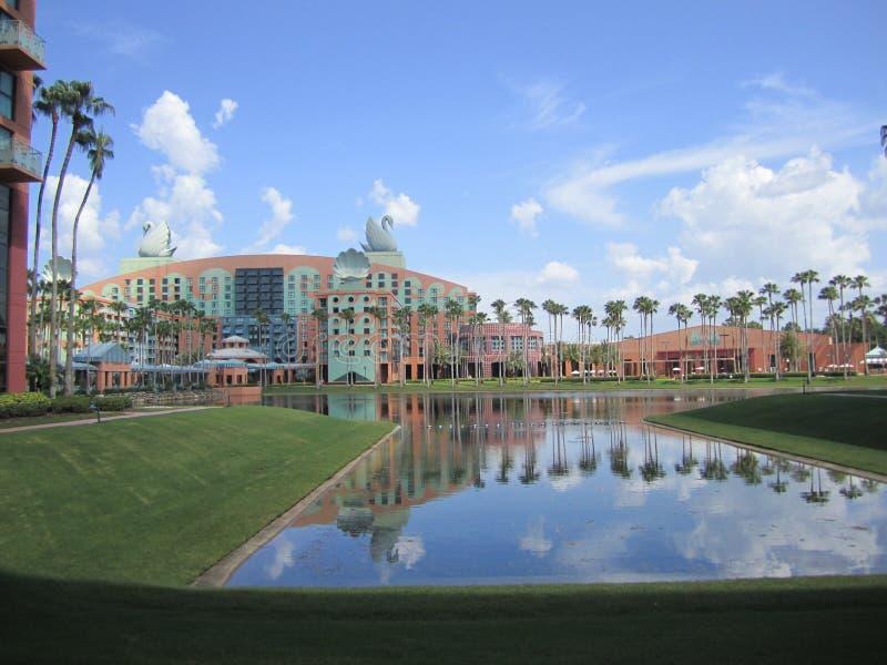 Hotel del cisne y del delfín foto de archivo