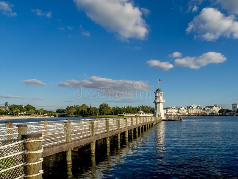 Hotel del cisne y del delfín, mundo de Disney imagen de archivo libre de regalías