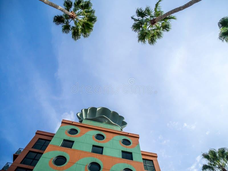 Hotel del cisne y del delfín, mundo de Disney fotografía de archivo libre de regalías