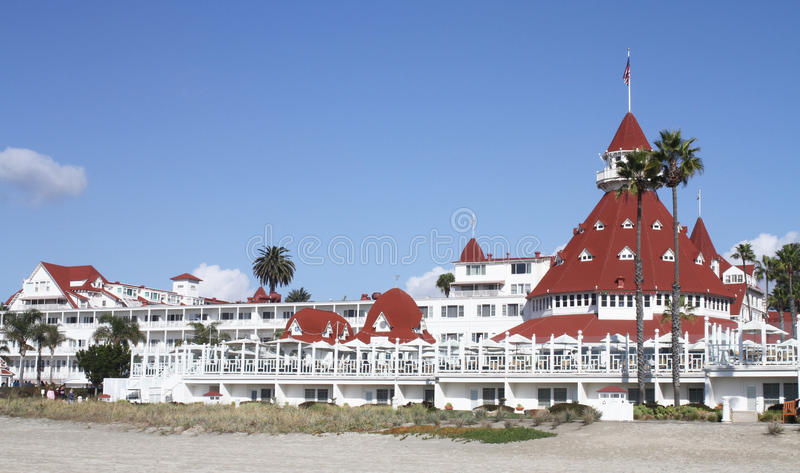 Hotel Del Coronado imagem de stock royalty free