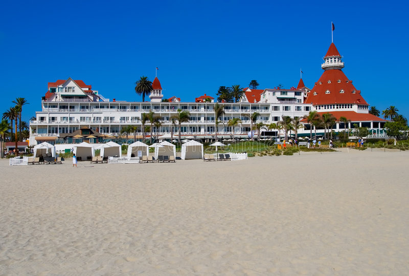 Hotel Del Coronado en San Diego imagenes de archivo