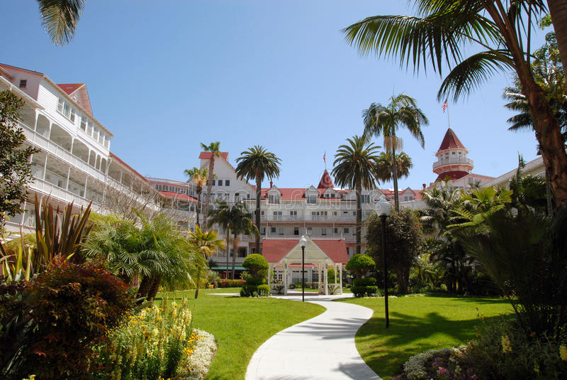 Hotel del Coronado-Hof stockbild