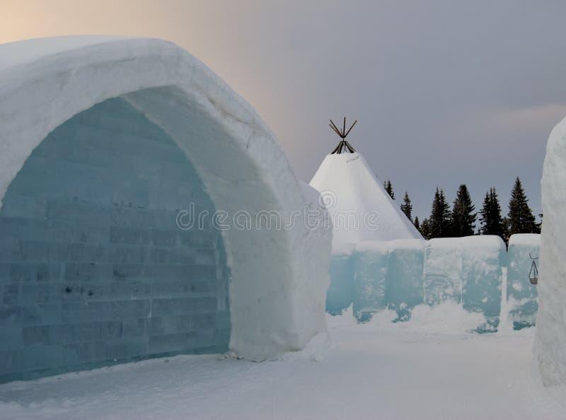 Hotel del hielo foto de archivo libre de regalías