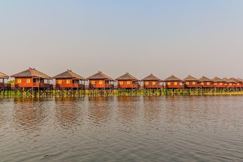 Hotel del lago Inle fotografia stock libera da diritti