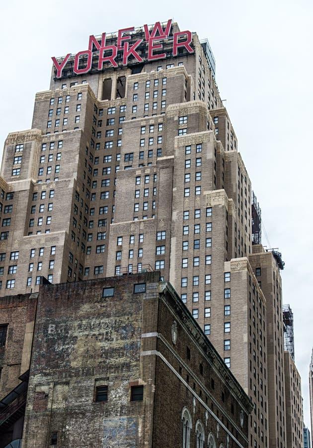 Hotel del Newyorkese immagine stock