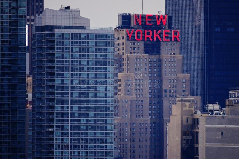 Hotel del Newyorkese fotografia stock