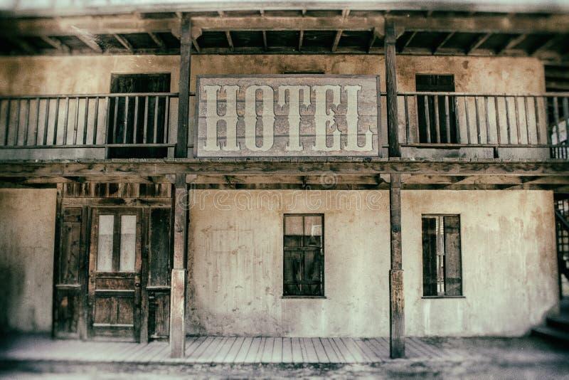Hotel del oeste viejo fotos de archivo libres de regalías