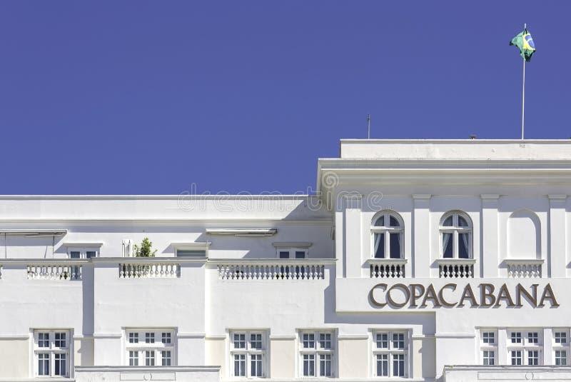 Hotel del palacio de Copacabana en Rio de Janeiro foto de archivo