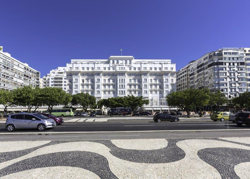 Hotel del palacio de Copacabana en Rio de Janeiro fotografía de archivo libre de regalías