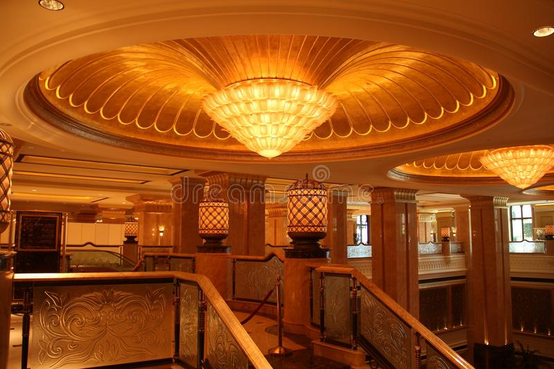 Hotel del palacio de los emiratos, Abu Dhabi imágenes de archivo libres de regalías