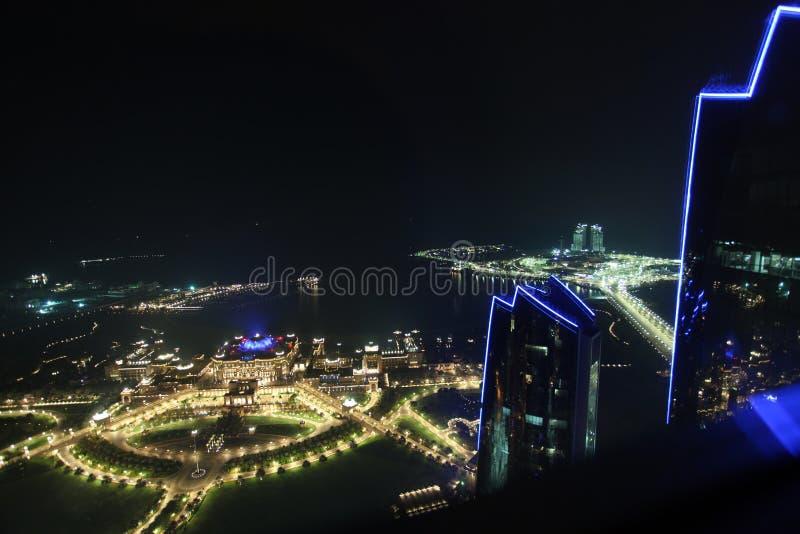 Hotel del palacio de los emiratos en Abu Dhabi fotografía de archivo libre de regalías