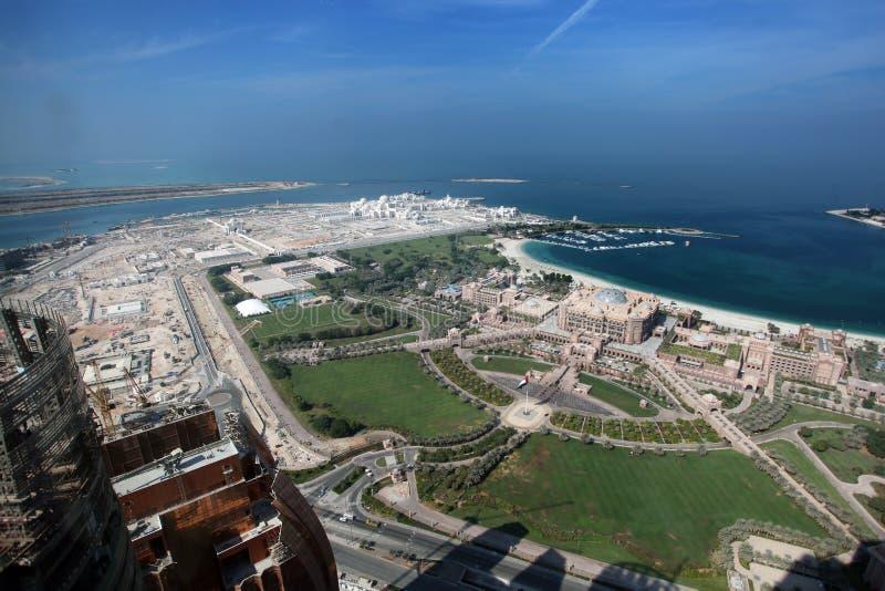 Hotel del palacio de los emiratos en Abu Dhabi fotos de archivo libres de regalías