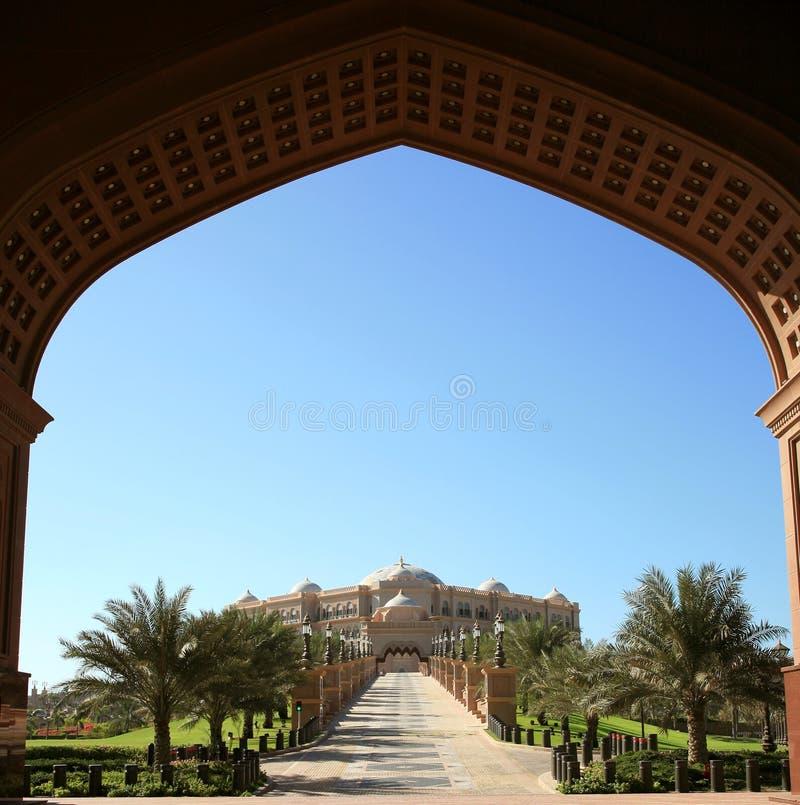 Hotel del palazzo degli emirati fotografia stock