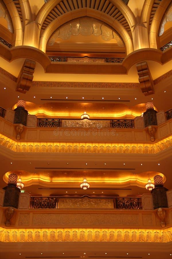 Hotel del palazzo degli emirati, Abu Dhabi fotografia stock libera da diritti