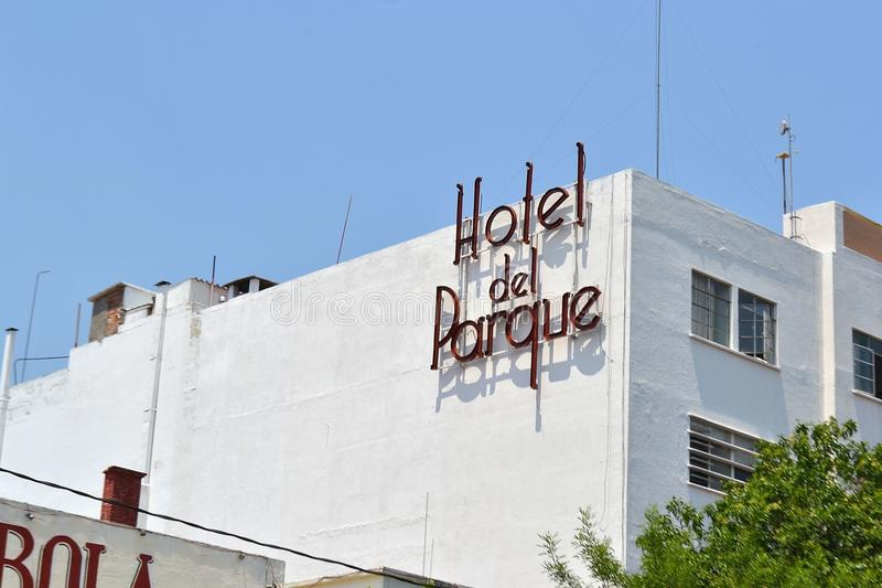 Hotel del parque stock photography
