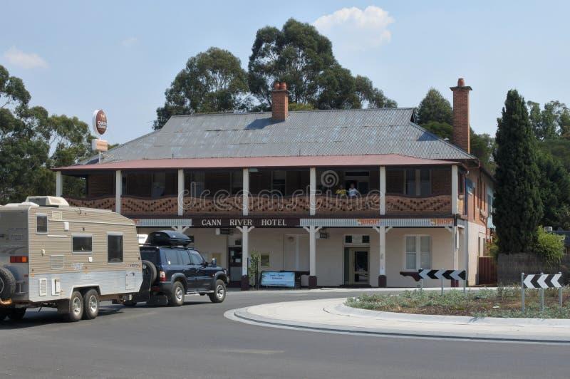 Hotel del río de Cann en Victoria Australia imagen de archivo