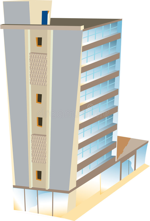 Download Hotel del rascacielos ilustración del vector. Ilustración de vector - 7283649