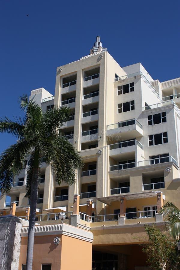 Hotel del sud di Miami della spiaggia immagini stock libere da diritti