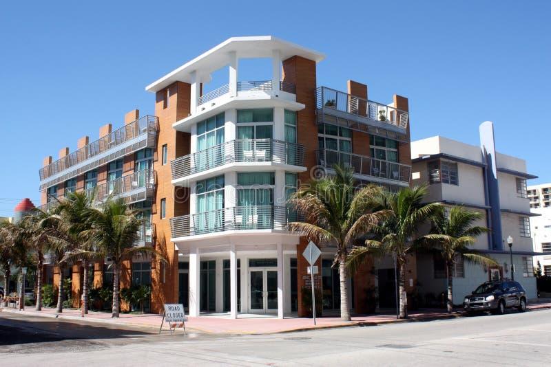 Hotel del sur de Miami de la playa fotos de archivo libres de regalías
