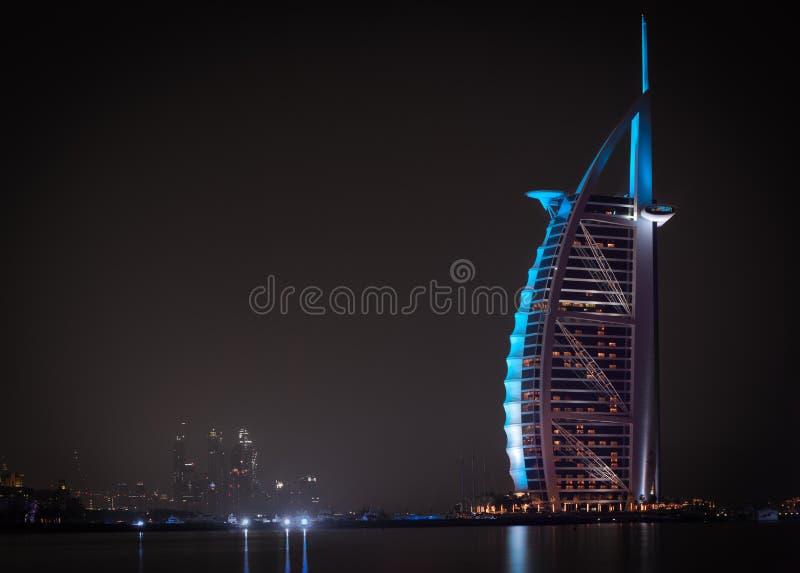 Hotel dell'Burj-Al-Arabo fotografie stock libere da diritti
