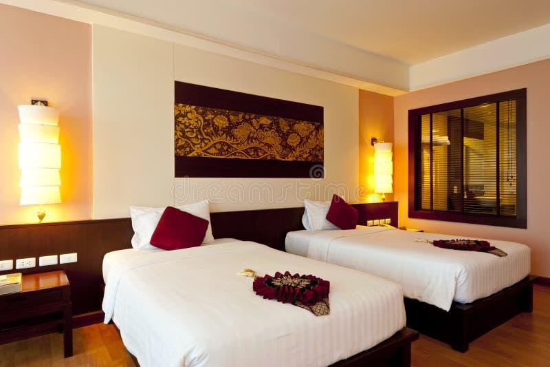 Hotel della camera da letto fotografia stock libera da diritti