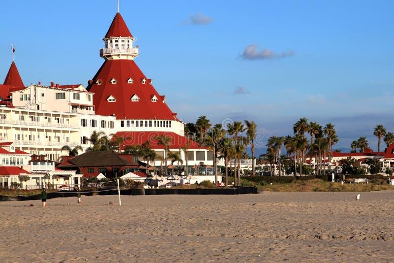 Hotel della parte anteriore di mare fotografie stock libere da diritti
