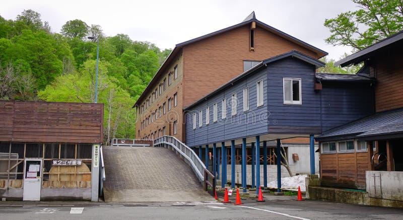 Hotel della sorgente di acqua calda di Tamagawa in Tohoku, Giappone fotografie stock libere da diritti