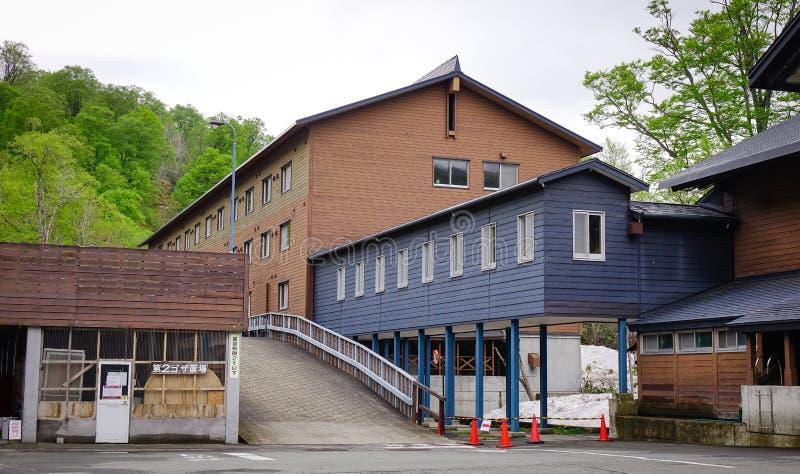 Hotel della sorgente di acqua calda di Tamagawa in Tohoku, Giappone fotografie stock