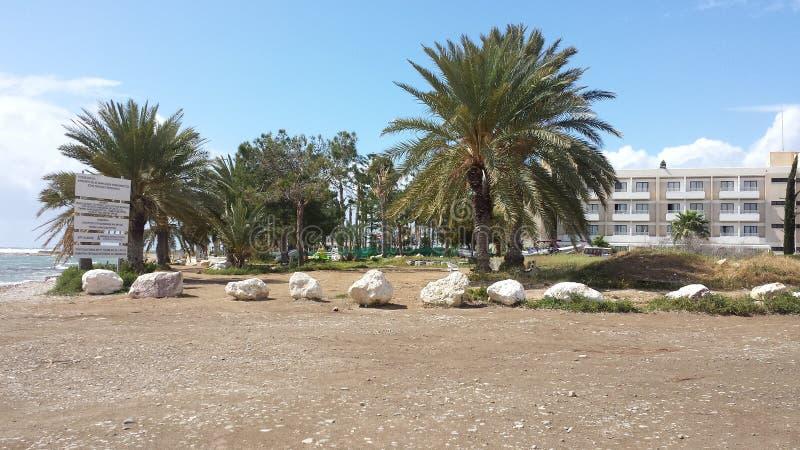 Hotel della spiaggia di vacanza estiva fotografia stock