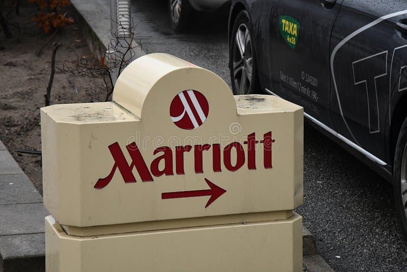 HOTEL DES AMERIKANER-MARRIOTT IN KOPENHAGEN DÄNEMARK stockfotos