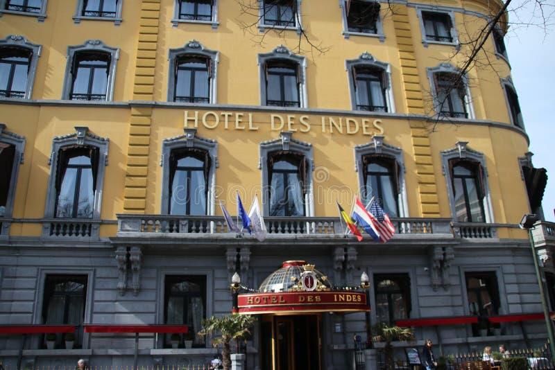 Hotel Des Indes is één van het beroemde hotel in Den Haag The Hague in Nederland waar heel wat celibraties sliepen stock fotografie